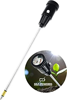 Durable Soil pH & Moisture Meter with Long Probe 11.6 inches (295mm) Gardening Tools for Home Garden Orchard Vineyard Lawn Farm Indoor & Outdoor Use pH range of 3.0 to 8.0 (No Battery needed)
