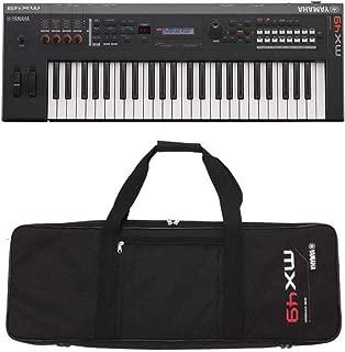 Yamaha MX49BK 49-Key Keyboard Synthesizer Black with Yamaha MX49 Black Gig Bag