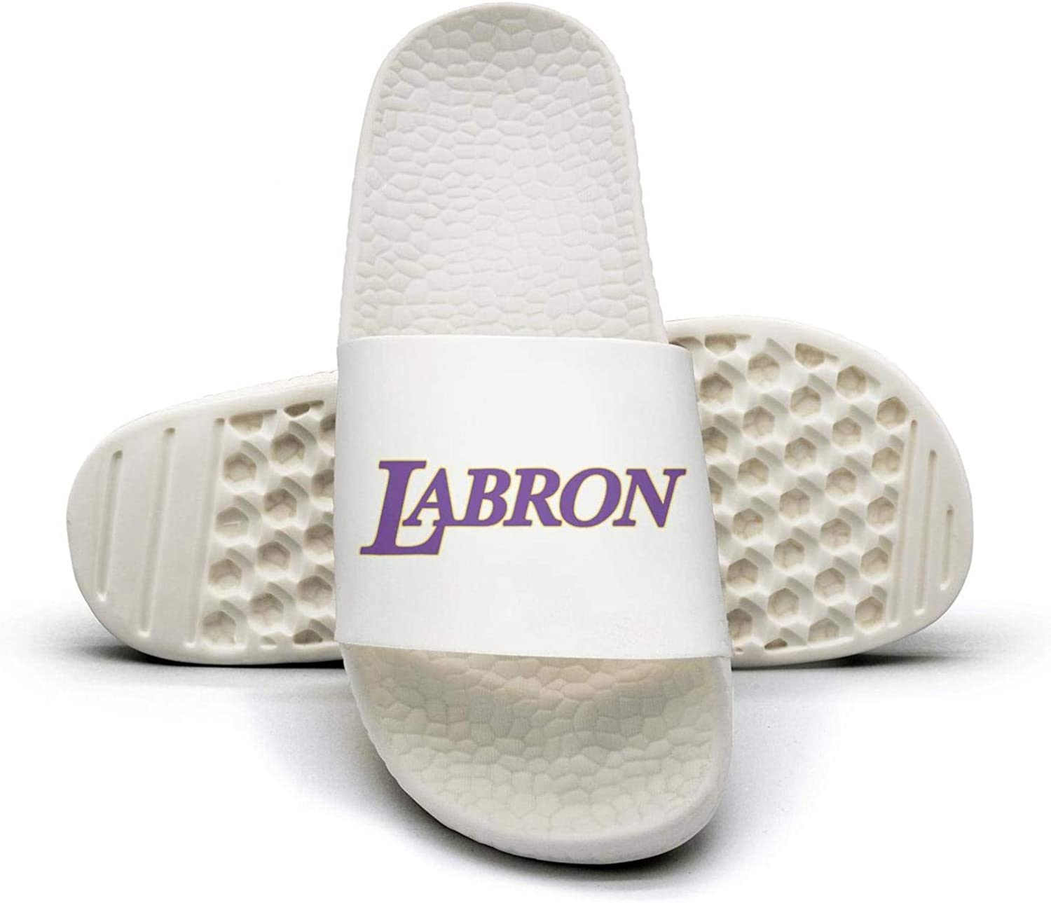 ADIDII Womens Printed Non-Slip Slipper Slide flip Flop Sandals Purple_LABRON_Basketball Logo Summer Soft