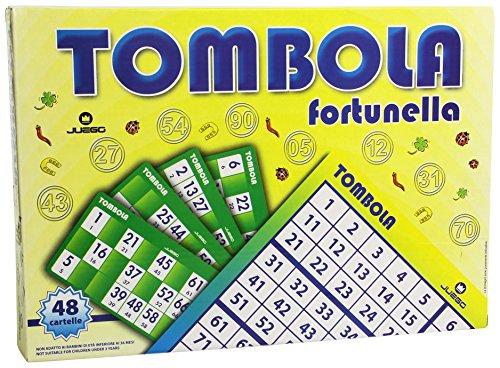 Juego - Lucky Bingo I Tombola Classica Italiana I Bingo Originale Tabellone, Numeri, Cartelle E Chips Incluse I Gioco da Tavolo - Multicolore