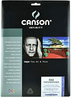 Legion Canson Infinity Digital Paper, Rag Photographique 310G, 8.5 X 11 inches, 10 Sheets (F11-RPH310851110)