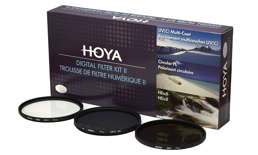Hoya 67mm HMC Filtro UV /& PLANA Polarizador Circular Filtro Kit DOBLE