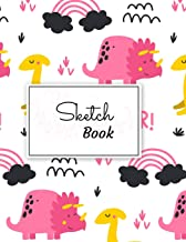 Sketch Book: Pink Themed Colorful Dino Doodles: Blank Dinosaur Journal and Notebook, specially made for Sketching, Doodling, Drawing, and Painting| ... (Sketchbook for Kids, Teens, Boys, and Girls)