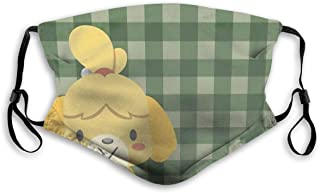 HSJSS Isabelle Animal Crossing Unisex Face Covers Waschbare Staubschutzhülle Comfortable Reusable Outdoor Außenbereich M