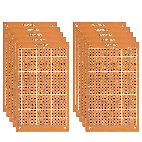 TANCUDER 10 Stück Lochrasterplatte 15 * 9cm PCB Prototyp Board Universal Board Kit PCB Universal Board Leiterplatte Prototype Lochrasterplatte Kit Lochrasterplatine für Prototyping, DIY-Projekte