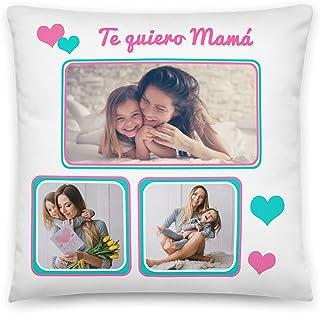 Kembilove Regalos Originales para Madre – Regalo día de la Madre – Cojines Personalizados – Cojín para Mama, Aniversario, cumpleaños – (Te Quiero mamá)