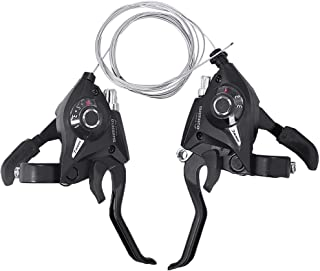 Anxingo ST-EF51 Set 3x7 Speed Shifter Brake Lever Combo 21 Speed Shifter Set and Brake Levers for Mountain Bike