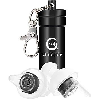 Quietide 耳栓 安眠 防音 遮音値31dB 睡眠 飛行機 仕事 勉強 水洗い可能 携帯ケース付き Q4 黒