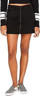 Vanilla Star Juniors' Full-Zip Cotton Mini Skirt