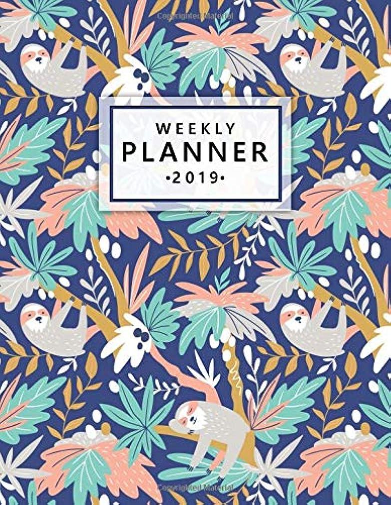 同化する受信機樹木Weekly Planner 2019: This sloth planner has weekly views with to-do lists, inspirational quotes and funny holidays, the perfect organizer with vision boards and more. (Sloths 2019 Planners)