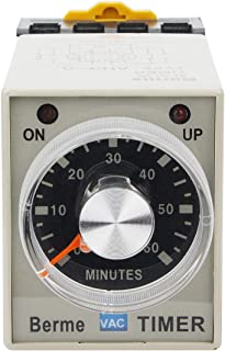 Electrical Buddy Electrical Buddy 60M Time Range 8 Terminals Adjustable Delay Timer Time Relay AH3 3 AC110