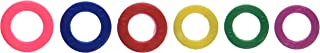 Color Code Key Rings Assorted Sizes Plastic Tags (Pack of 6 Tag)