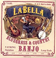 CUERDAS BANJO - La Bella (730/L) Bluegrass (Juego Completo 5 Cuerdas) 009/011/013/020W/009