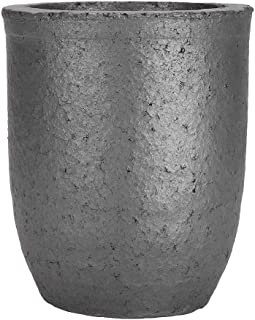 8Kg Graphite Furnace Crucible, Cup Shape Silicon Carbide Graphite Furnace Casting Silicon Carbide Graphite Crucible Melting Tool Casting Crucible