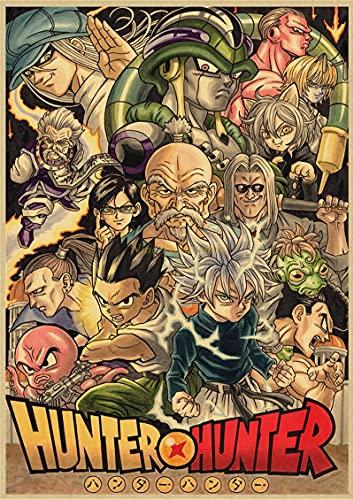 GaoDashan Clásico Anime Hunter X Hunter póster Retro Vintage Cuadro de Arte de Pared para decoración del hogar de la habitación 50x70 cm (19,68x27,55 in) A-905