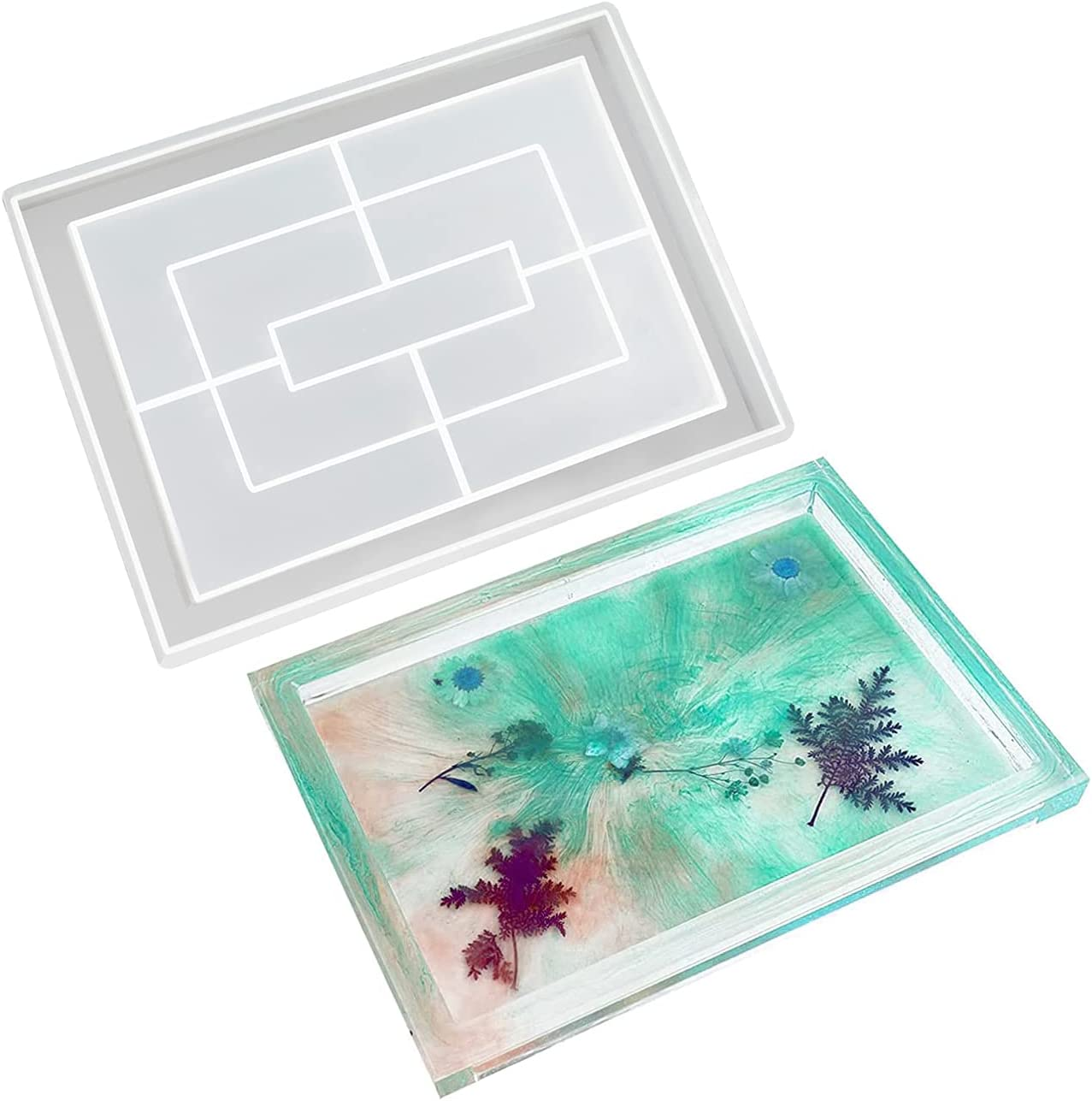 Rolling Latest item Tray Resin Molds Cheap mail order shopping fo Silicone Large Rectangle