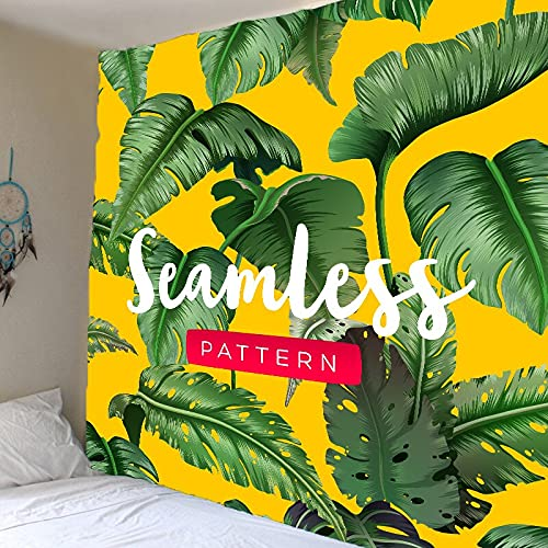 Tapiz de planta verde hoja de palmera tropical colgante de pared tapiz de flor grande arte tela de pared tapiz tela de fondo A1 180x200cm