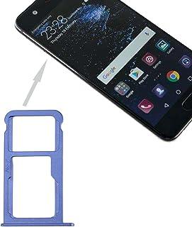 YuanGH For Huawei P10 SIM Card Tray & SIM/Micro SD Card Tray(Black) Yuan Repair Parts (Color : Blue)