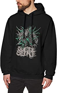 MCFUNTEE Suicide for Men Silence Hoodies BeautifulBlack Mens Sweatshirt T-Shirt
