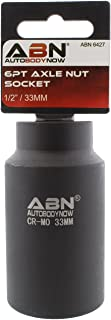 ABN Axle Nut Socket, 33mm, 1/2in Drive, 6 Point – Universal for All Vehicle 6pt Installation, Removal, Repair