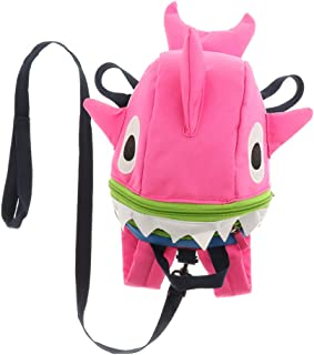 Prettyia Kids Safety Harness Anti-Lost Backpack Cute Shark Schoolbag for Walking Baby Toddler –Pink
