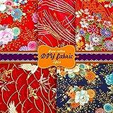 Souarts Patchwork Stoffe Baumwollstoff Set Japanischer Stil