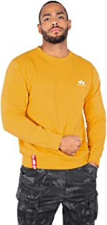 Men Sweatshirt Basic Small Logo, Größe:L, Farbe:Wheat
