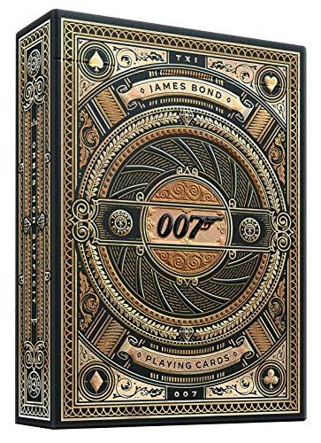 theory11 Unisex-Erwachsene James Bond Playing Cards Spielkarten, Braun/Gold, Poker