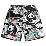 Mens Ultra Quick Dry Rock Musician Fashion Board Shorts Large 34-35
