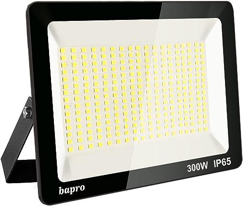 300W LED Foco Exterior, Proyector Foco Led Blanco Frío 6000K Floodlight Brillo Alto IP65 Impermeable Exterior Ilumina...