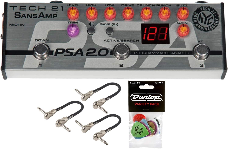 Tech 21 SansAmp PSA 2.0 Daily bargain sale wholesale Programmable Pedal with Preamp Bundle 3
