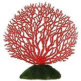 Atyhao Decoraciones para acuarios, Plantas de Acuario de Coral Artificiales de plástico, decoración de Plantas de plástico Artificial, pecera subacuática, decoración de acuarios(Rojo)