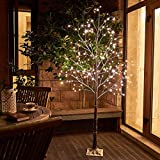 Vanthylit 6FT 288LT Snow Tree with Fairy Lights Warm White for Christmas Party Wedding Holiday Decor