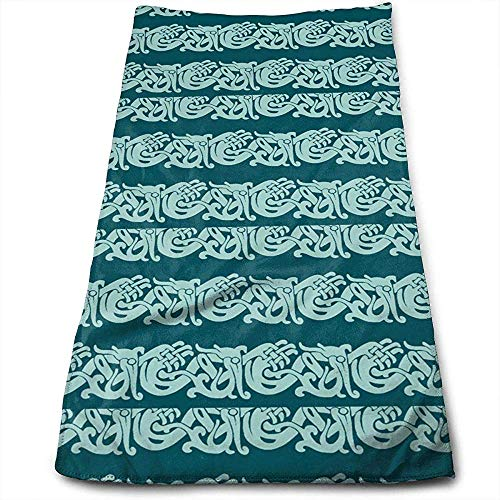 Hancal Toallas de Mano Merida Brave Celtic Border Face Towels Toallas Altamente absorbentes para Face Gym y SPA 30 * 70Cm