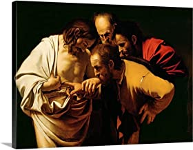 GREATBIGCANVAS Gallery-Wrapped Canvas Entitled The Incredulity of St. Thomas, 1602-03 by Michelangelo Caravaggio 16