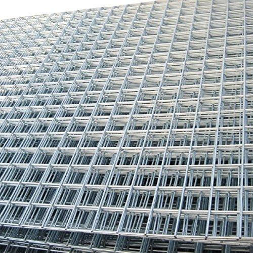 "Welded Wire Mesh Panel 8ft x 4ft Galvanised Steel Sheet Metal Grid 1"" / 25mm Holes 12 gauge - Animal enclosures, Dogs, Metal security cages"