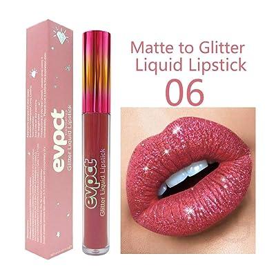 Mererke_Pretty Shimmer Lip Gloss Metal Lipstick...