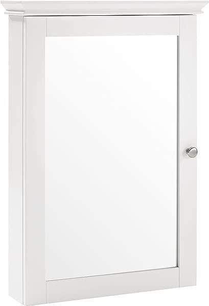 Crosley Furniture Lydia Mirrored Bathroom Wall Cabinet White
