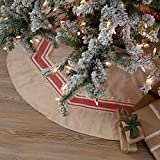 Piper Classics Mill Creek Red Christmas Tree Garland 9ft, Country Farmhouse Christmas and...