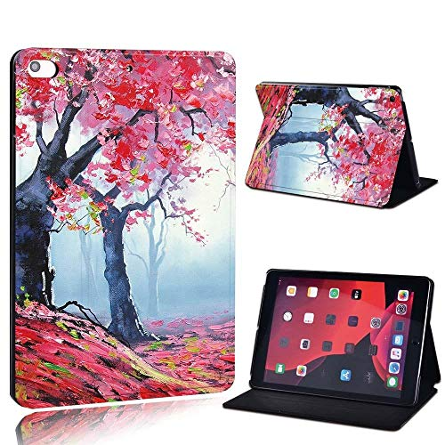 lingtai For Ipad 2 3 4 5 6 7/Air 1 2 3/Pro 11 2018 2020 Pu Leather Tablet Stand Folio Cover Ultrathin Painting Colors Slim Case (Color : Red t, Size : 8th Gen (2020))