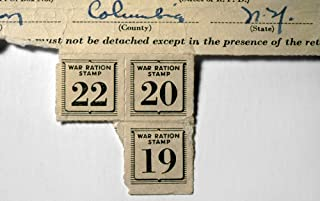 War Ration Stamps C1943 Namerican Ration Stamps Issued During World War Ii To A Resident Of Columbia County New York C1943 Poster Print by (24 x 36)