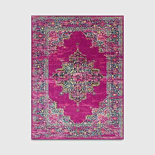 Tapijten mode retro geometrische Perzische etnische stijl vloermat gemakkelijk schoon te maken vlek lichtbestendig modern tapijt voor keuken woonkamer slaapkamer nachtkastje tapijt,80 * 120cm