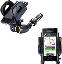 2 in 1 USB Port and 12V Receptacle Mount Holder for The Sony Ericsson Xperia ray Keeps Your Device Secure in Any Car or Truck