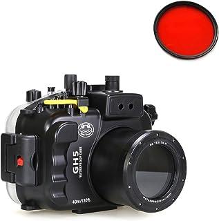 Sea Frogs Panasonic GH5 対応 40M/130ft 水中カメラハウジングケース保護ケース 防水プロテクター 水中撮影用 付き67mm赤フィルタ 並行輸入品