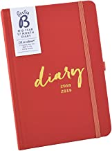 Busy B 17 Month 2018-19 Mid Year Diary - Week-to-View Agenda with timetables and Notes