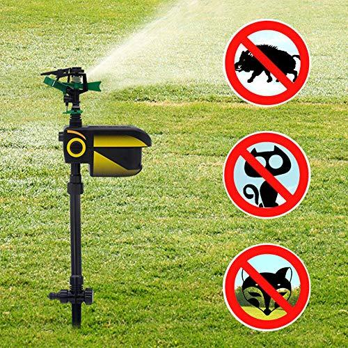 Solar Animal Repeller Yard Lawn Water Spray Sprinkler Motion Activated Repellent Sprinkler (USA Stock)