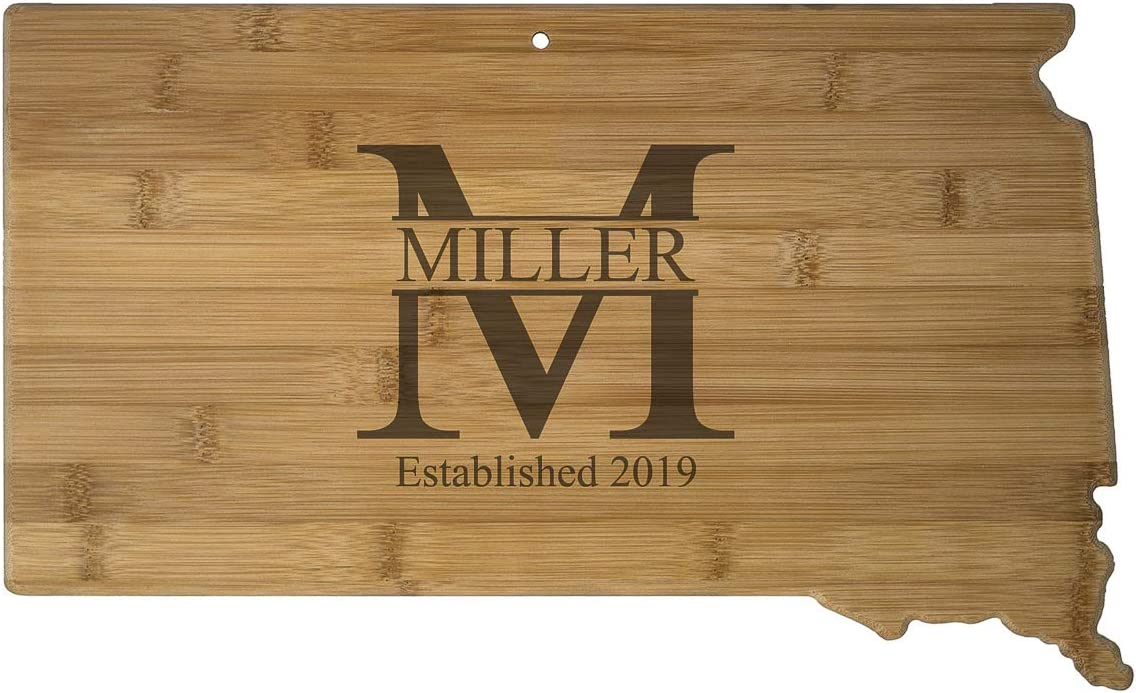USA South Dakota State Shaped Cutting Board Max 88% Max 59% OFF OFF MILLER Personalized