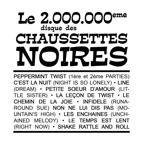 Le 2 000 000e Disque des Chaussettes Noires