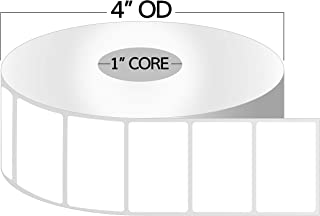 OfficeSmartLabels ZE1100012 1 Inch Core - 1 x 1/2 inch Direct Thermal Labels, Compatible with Zebra Printers for Zebra Des...