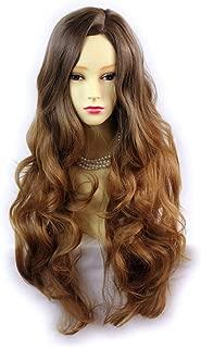Wiwigs Pretty Long Wavy Wig Strawberry Blonde & Light Brown Dip-Dye Ombre Hair